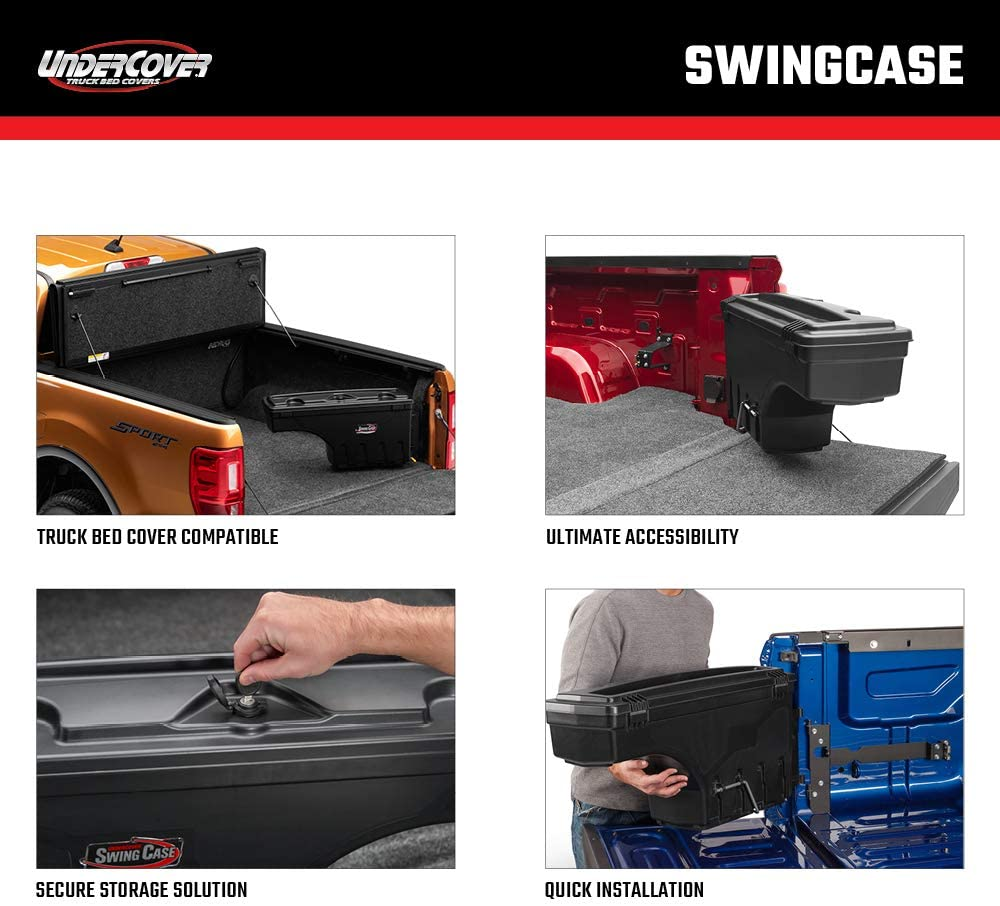 Undercover SwingCase Truck Bed Storage Box SC203D Fits 15-20 Ford F-150 Drivers Side