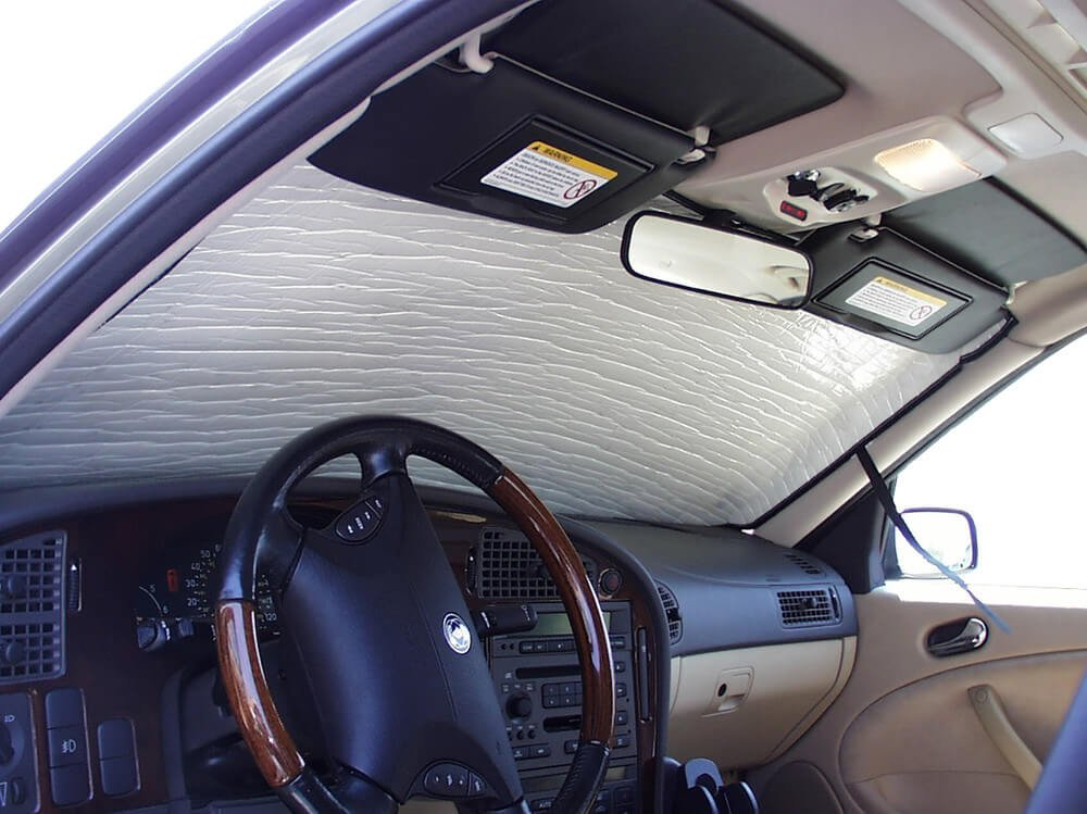 Amazon.com: HeatShield The Original Auto Sunshade, Custom-Fit for Saab 9-3 Sedan 2003-2011, Silver Series: Automotive