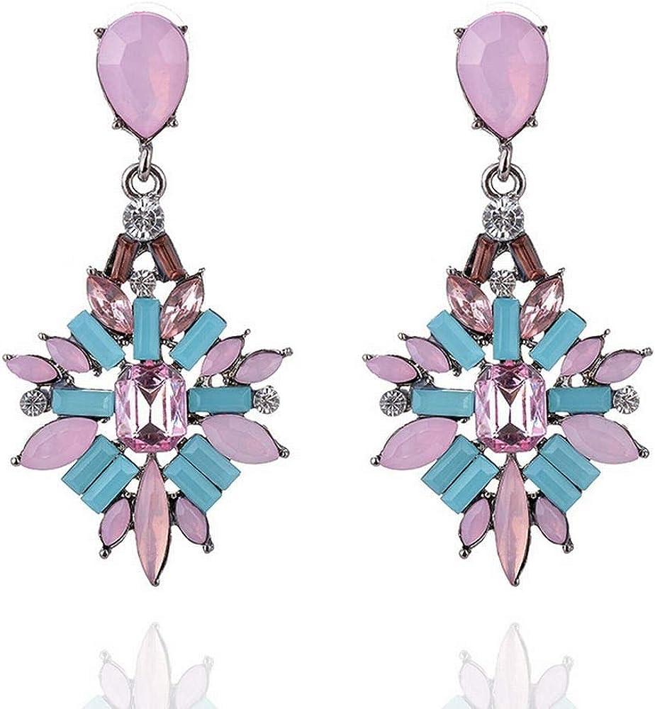 ZRDMN pendientes de botón colgantes joyas de perlas para las mujeres Moda europea y americana El clásico gota pendientes de piedras preciosas joyas de oreja de lujo Pendientes de joyería