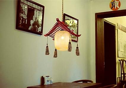 Yunguang retro lampadari di legno a testa singola lampadari in