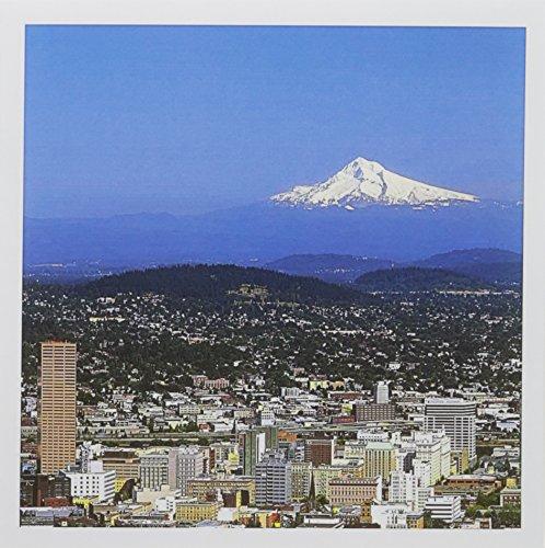 (3dRose USA Oregon Portland City Skyline and Mt. Hood US38 BJA0166 Jaynes Gallery Greeting Cards, Set of 12 (gc_93477_2) )
