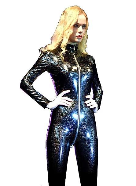 Gyan Sexy Lencería Mujeres Cuero Bodysuit Latex Catsuit ...