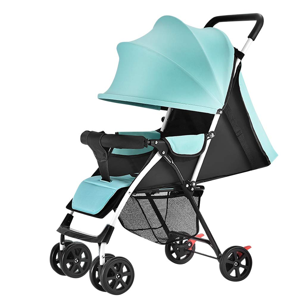 Olpchee Ultra Lightweight Portable Baby Infant Stroller Simple Folding Newborn Pushchair Toddler Travel System for Travel and Plane (Mint Green)