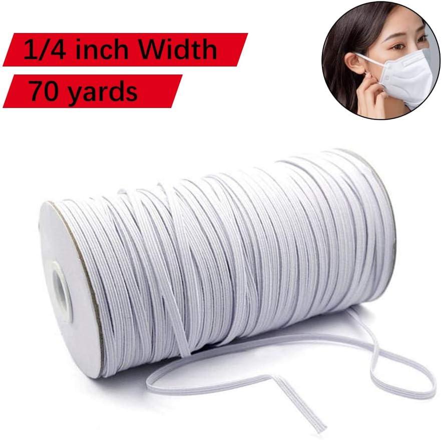 Elastic Mask Strap 100Yards 1//8 inch Elastic Band Elastic Cord Elastic Mask Strap Sewing DIY Crafts Shipped from USA (White)