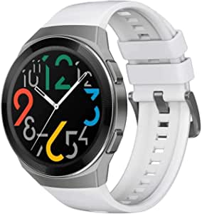 """HUAWEI WATCH GT 2e Smartwatch, 1.39"""" AMOLED HD Touchscreen, 2-Week Battery Life, GPS and GLONASS, Auto-detects 6 Sport Modes, 15 Sport Activities Tracking, SpO2, Heartrate Monitoring, Icy White"""