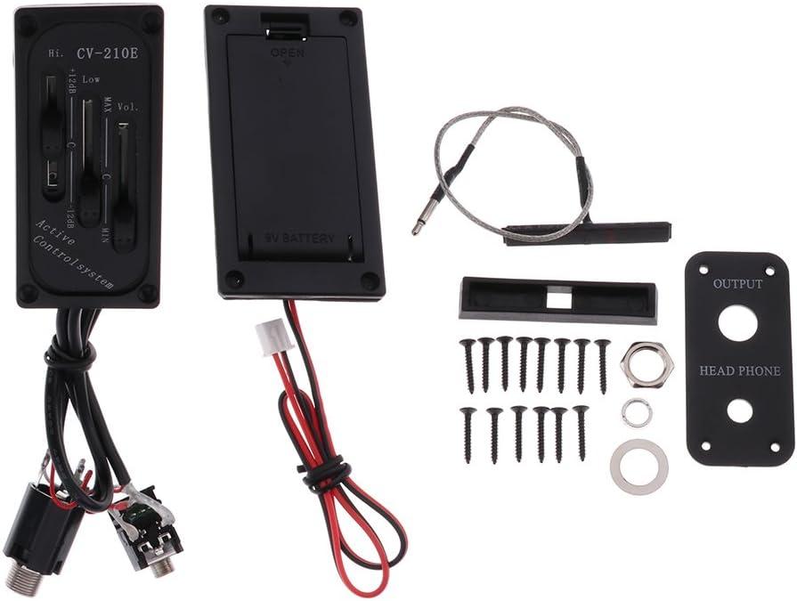 1 Juego ABS Violin Fiddle Pasivo Pickup Active Controlsystem Negro CV-210E