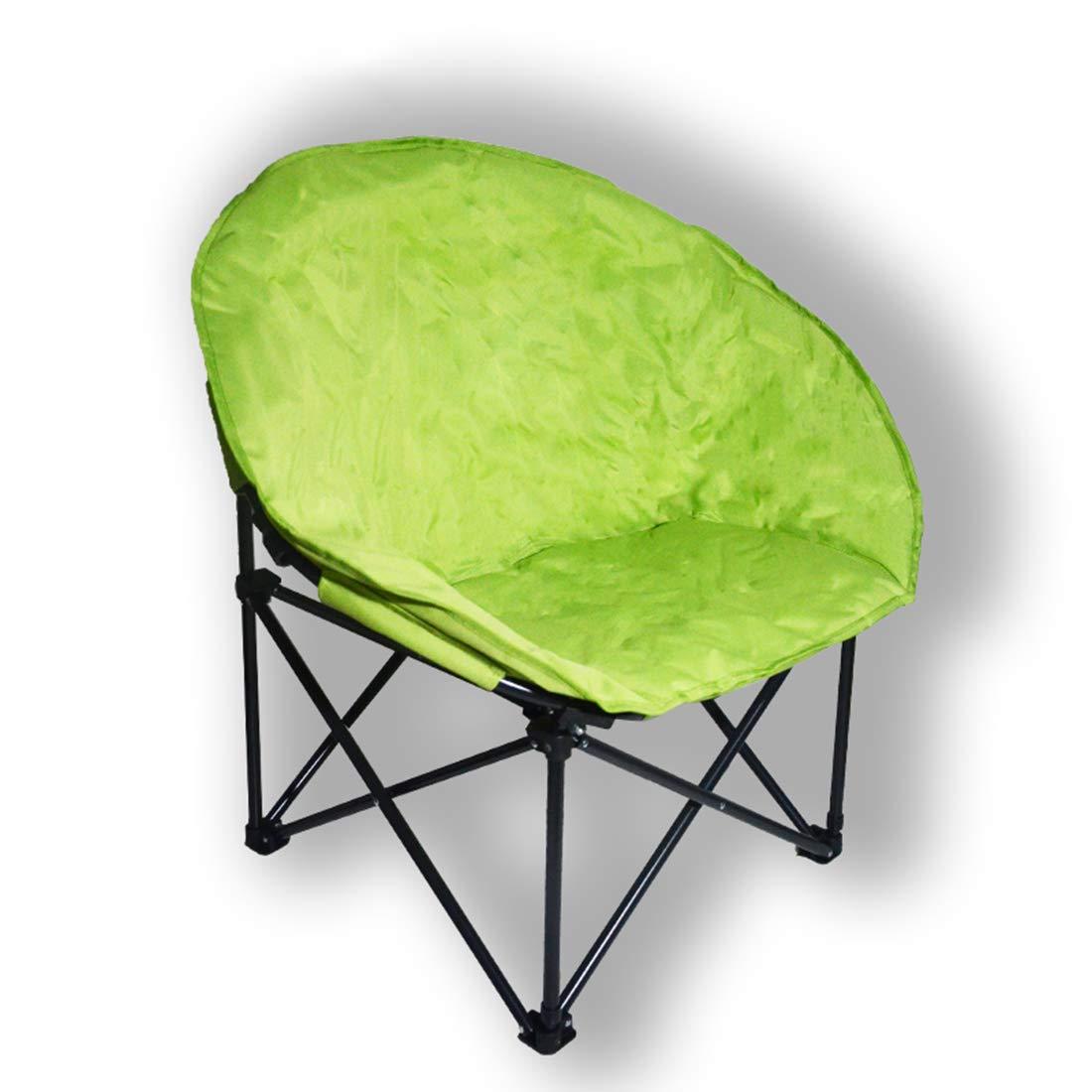 Gmnoy Moon Lounge Chair Pieghevole rossoondo Oxford Panno Tubo di Ferro da Spiaggia Pesca Campeggio Portatile Divano Esterno,verde