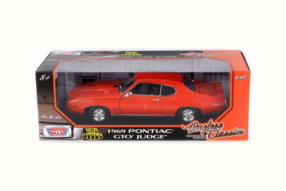 Amazon.com: 1969 Pontiac GTO Judge, Orange - Motor Max 73133 - 1/18 ...