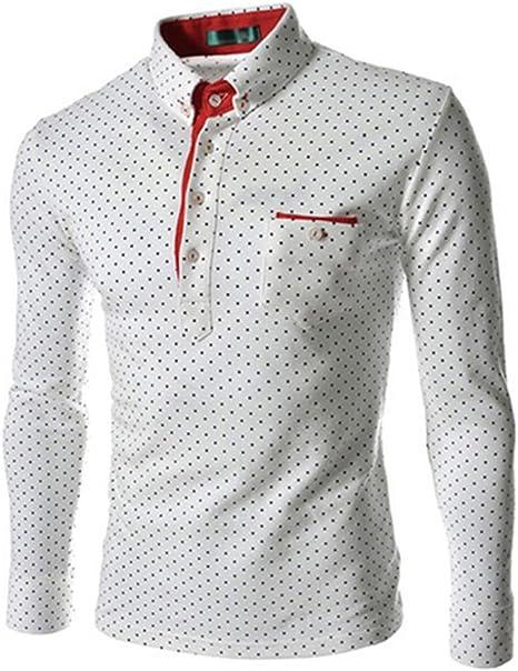 Guiran Camisa Hombre De Manga Larga Personalidad Slim Fit Casual Puntos Cuatro Botones Bolsillo Cofre: Amazon.es: Deportes y aire libre