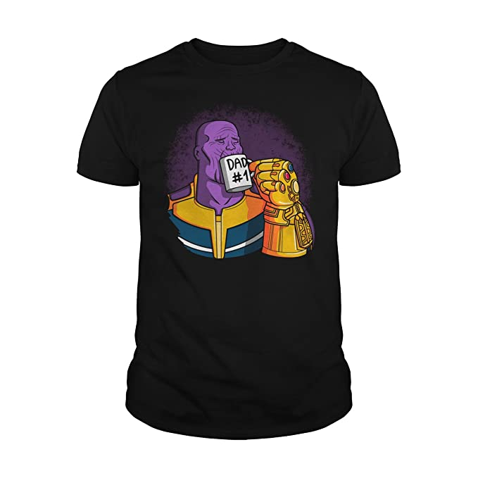 2d987933 Amazon.com: Sleeky DAD #1 Thanos T-Shirt: Clothing