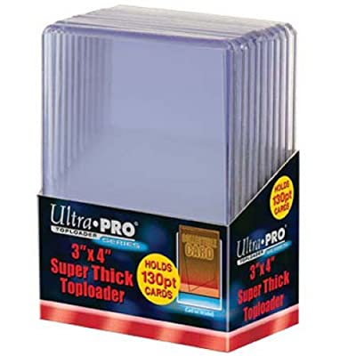 Ultra Pro 82327 3 x 4 inch Toploaders Super Thick (10 Count), Clear: Toys & Games