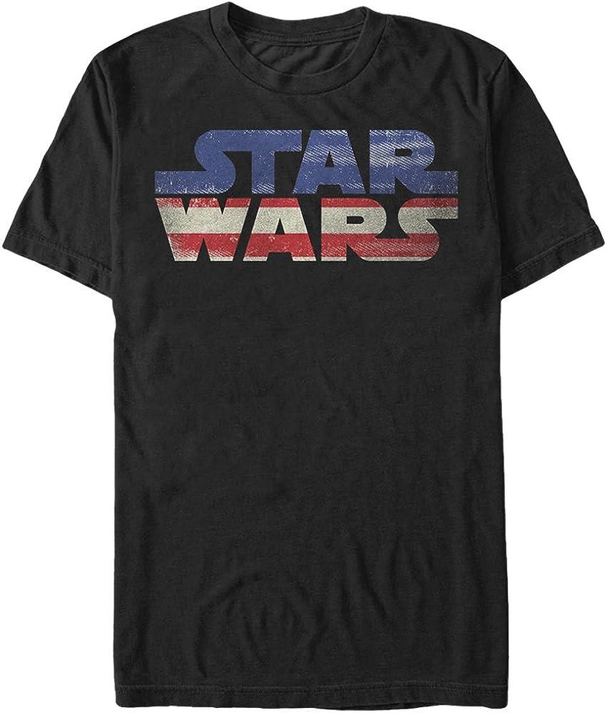 Star Wars Men's Sw USA Flag Graphic T-Shirt