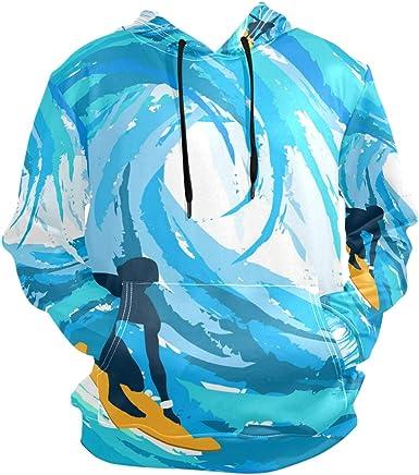 LDIYEU Surf De Mar Sudadera con Capucha Sudaderas Deportivas con Estampado 3D Impresión Camisa de Entrenamiento para Niñas Niños Adolescente: Amazon.es: Ropa y accesorios