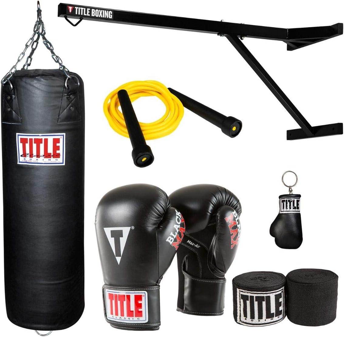 Title Boxing ウォールマウント ヘビーバッグハンガー & コンプリートセット  12 oz