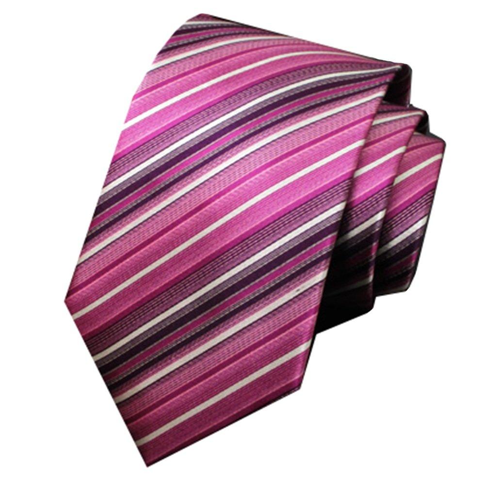 Negocio de los Hombres Versión Estrecha Pink and White Stripes ...