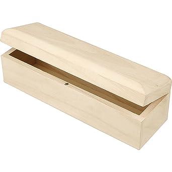 Creativ Company 577330 -Caja de almacenaje, madera de 20 x 6 x 6 cm: Amazon.es: Industria, empresas y ciencia