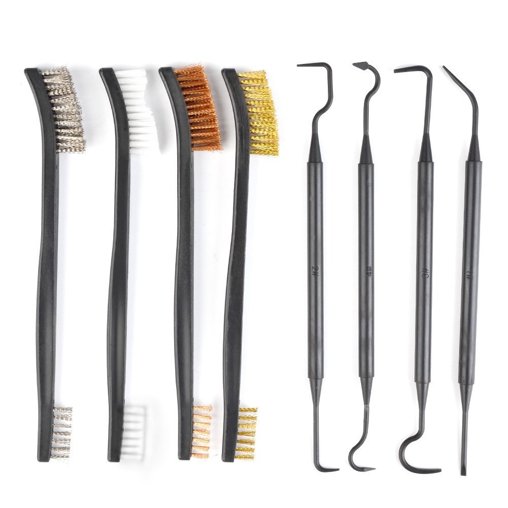 ATPWONZ 6 Mini Cepillo de Alambre Prá ctico Establecer Metal Pintura Limpiar Acero Inoxidable / Nylon / Cepillo de Lató n