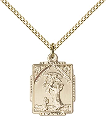 F a dumont 14kt gold filled st francis of assisi pendant with 18 f a dumont 14kt gold filled st francis of assisi pendant with 18quot gold filled aloadofball Choice Image
