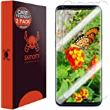 Galaxy S8 Plus Screen Protector[2-Pack][Case Friendly][Updated Design],Skinomi TechSkin Full Coverage[TPU Not Glass]Screen Protector for Samsung Galaxy S8 Plus[HD][Anti-Bubble][Wet Application]