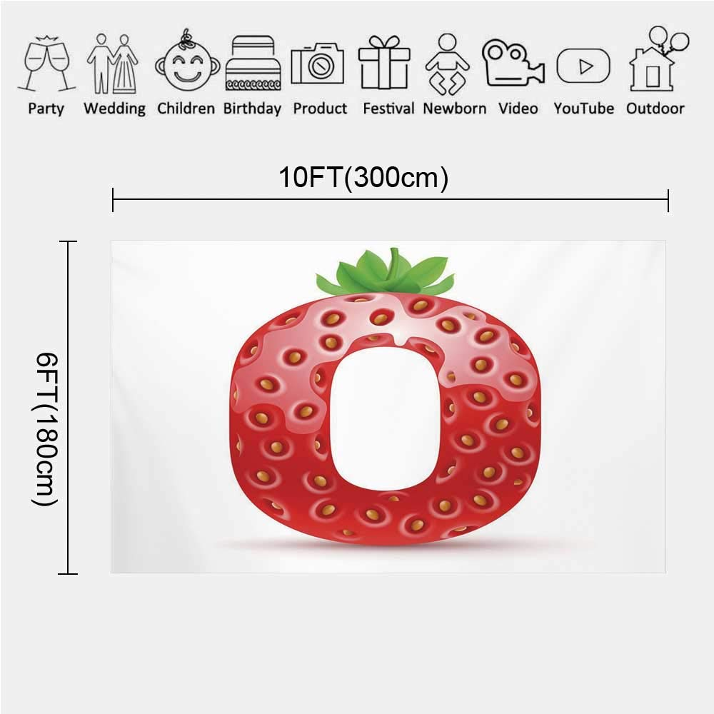 Strawberry Letter Youtube.Amazon Com Letter O Photography Background Vibrant Display Of