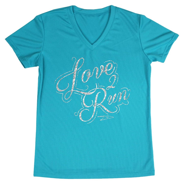 Women's Running Short Sleeve Tech Tee Love 2 Run (Script)