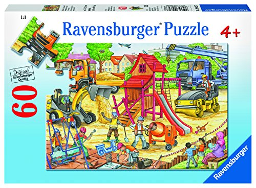 Ravensburger Building a Playground Jigsaw 60 Piece Jigsaw Puzzle Kids – Every Piece is Unique, Pieces Fit Together Perfectly
