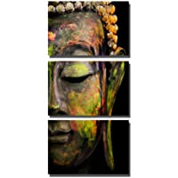 La Vie Tre Quadro Budda Stampa su Tela Quadro Olio Moderne Pittura Murale Decorativa Immagini da Parete Wall Art per Decor Casa Studio Ufficio Hotel Regalo 40 * 60cm x 3 Pezzi