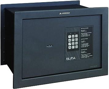Arregui 30010 Caja fuerte de empotrar electrónica con llave. 380x280x250mm, Negro texturado, 380 x 280 x 250 mm: Amazon.es: Bricolaje y herramientas