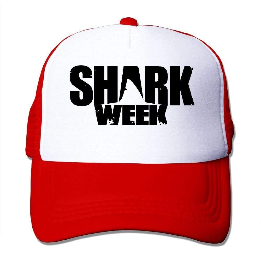 JTRVW Cowboy Hats Shark Week Mesh Trucker Caps//Hats Adjustable for Unisex Black
