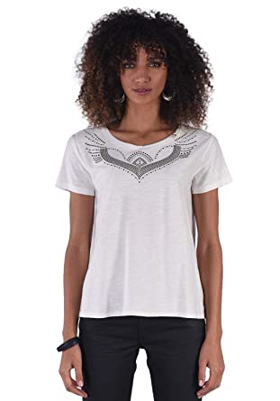 070a533831b95 Kaporal - Tee-Shirt clouté 100% Coton - Taj - Femme  Amazon.fr ...