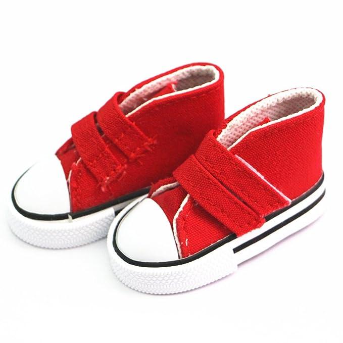 MagiDeal 1/4 Scala Di Pattini Tela Scarpa Superiori Appiccicosa Cinghia Scarpe Sneakers Accessori Per BJD SD MSD Bambole DOVFLfCCT