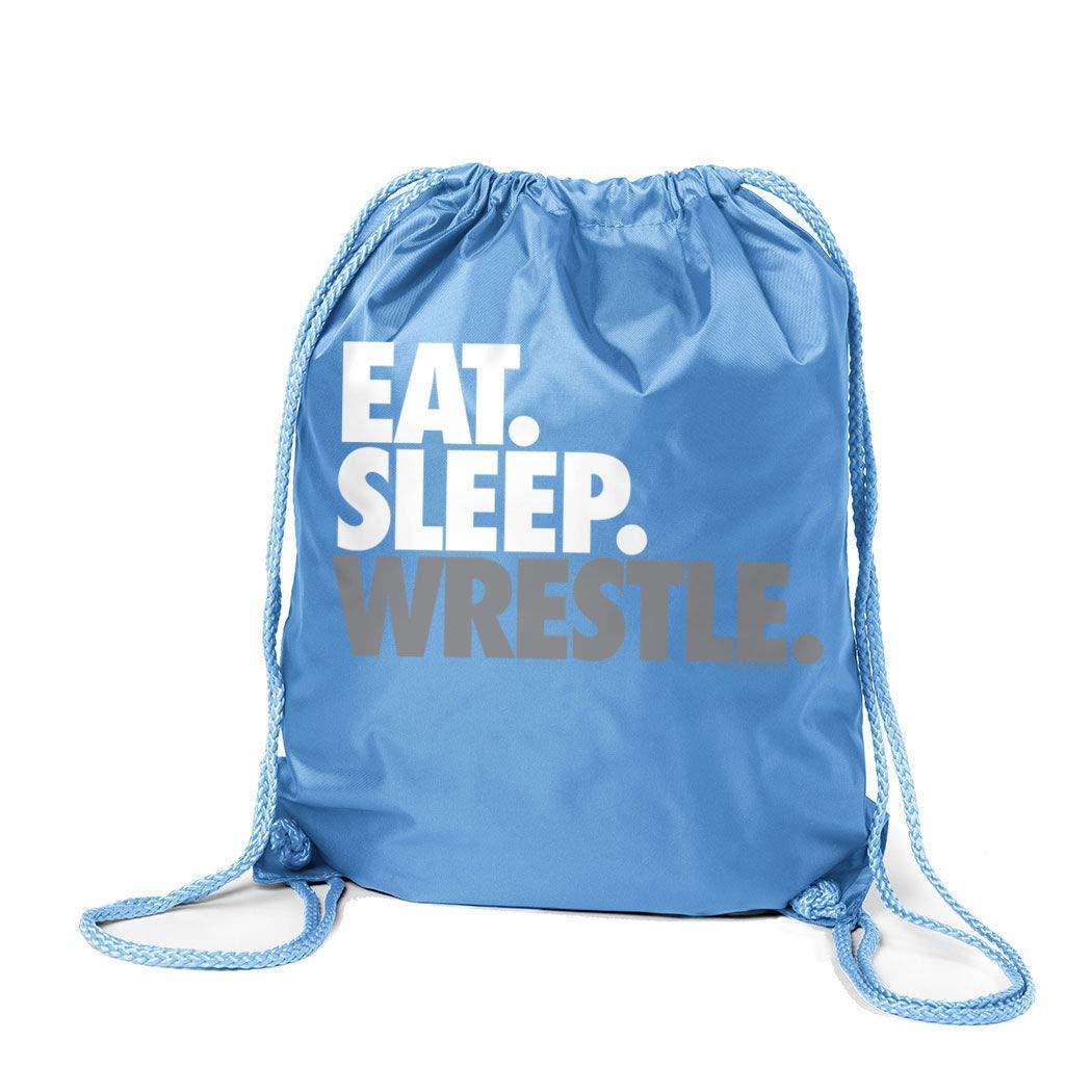日本最級 Eat Eat Sleep Wrestle (区点) シンチサック Wrestle   ライトブルー ChalkTalkSPORTS レスリングバッグ B019ZPDN4U ライトブルー ライトブルー, 新田郡:9d5fe5e7 --- fenixevent.ee
