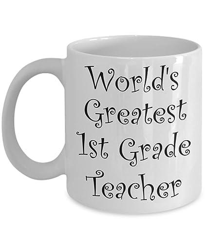 Amazoncom First Grade Teacher Gifts Mug 1st Men Women