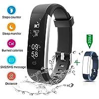 CHEREEKI Fitness Tracker, IP67 Impermeabile Orologio Smartwatch Sleep Monitor Leggi Messaggio da SMS, Whatsapp, Facebook, Skype