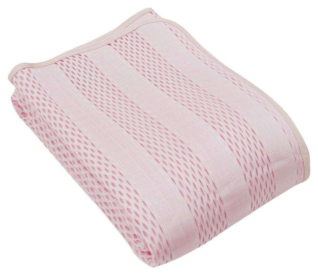 【ロマンス小杉】 アイス眠 EX ストライプ 敷きパッド クイーン(160×205cm) 日本製 ピンク 1-3131-5116-6100 B06VY8STQB ピンク クイーン