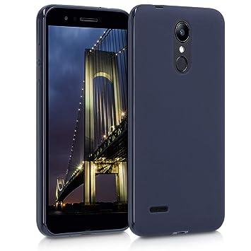 kwmobile Funda para LG K8 (2018) / K9 - Carcasa para móvil en [TPU Silicona] - Protector [Trasero] en [Azul Oscuro Mate]