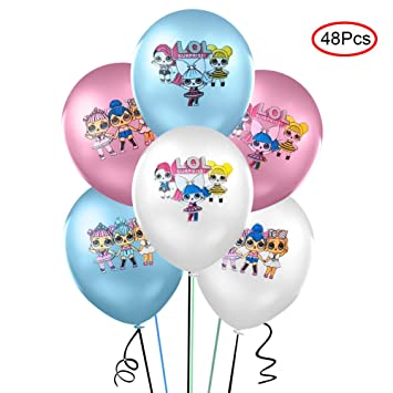 Lsang 48pcs LOL Balloons -12 Inches Latex Balloons for Baby Birthday Party Supplies