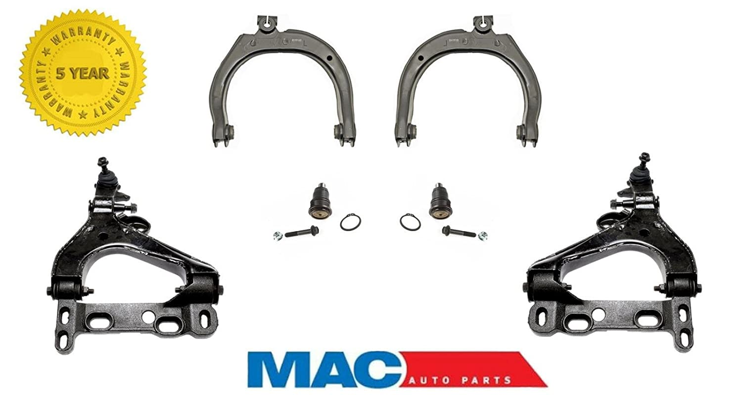Mac Auto Parts 144048 Chassis Kit Upper Arms Lower Gmc Envoy Ball Joint Rods Links Joints Trailblazer Automotive