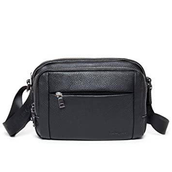 244c9cb5aba DANJUE full head layer leather cross section shoulder Messenger bag casual  sports bag multi-layer