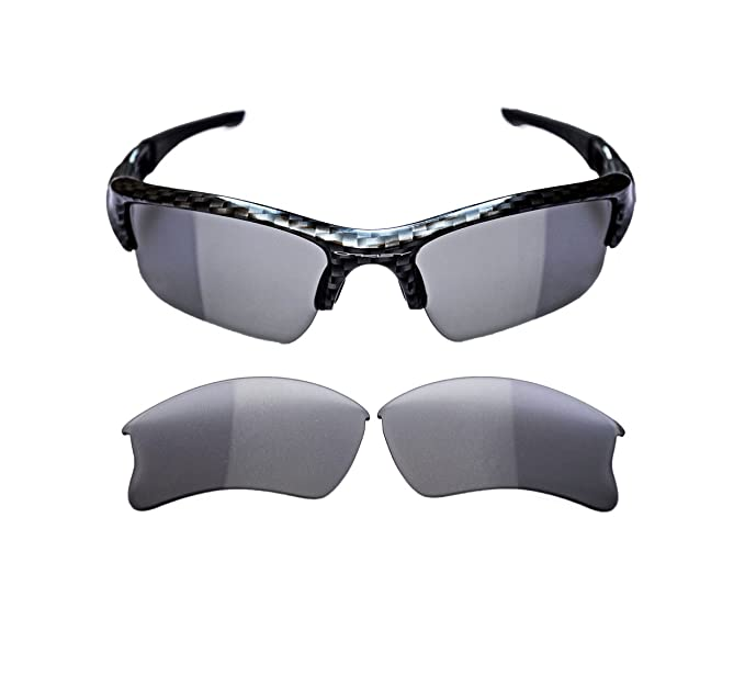 19a007884c NEW POLARIZED REPLACEMENT PHOTOCHROMIC XLJ LENS FOR OAKLEY FLAK JACKET  SUNGLASSES  Amazon.co.uk  Clothing