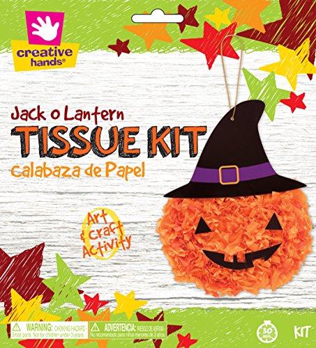 Creative Hands Tissue Jack O Lantern (Preschool Halloween Games Crafts)