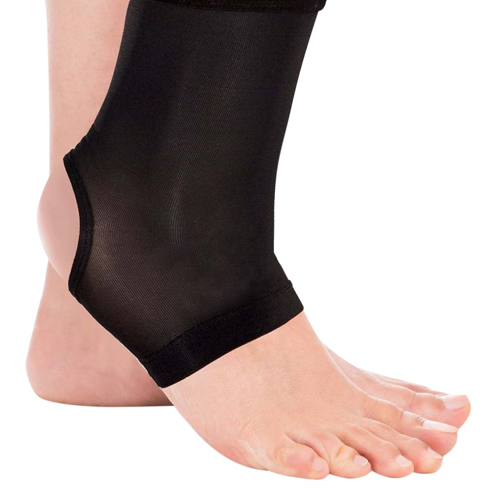 Total Copper Infused Embedded Dual Ankle Supports, Black, 3 Count