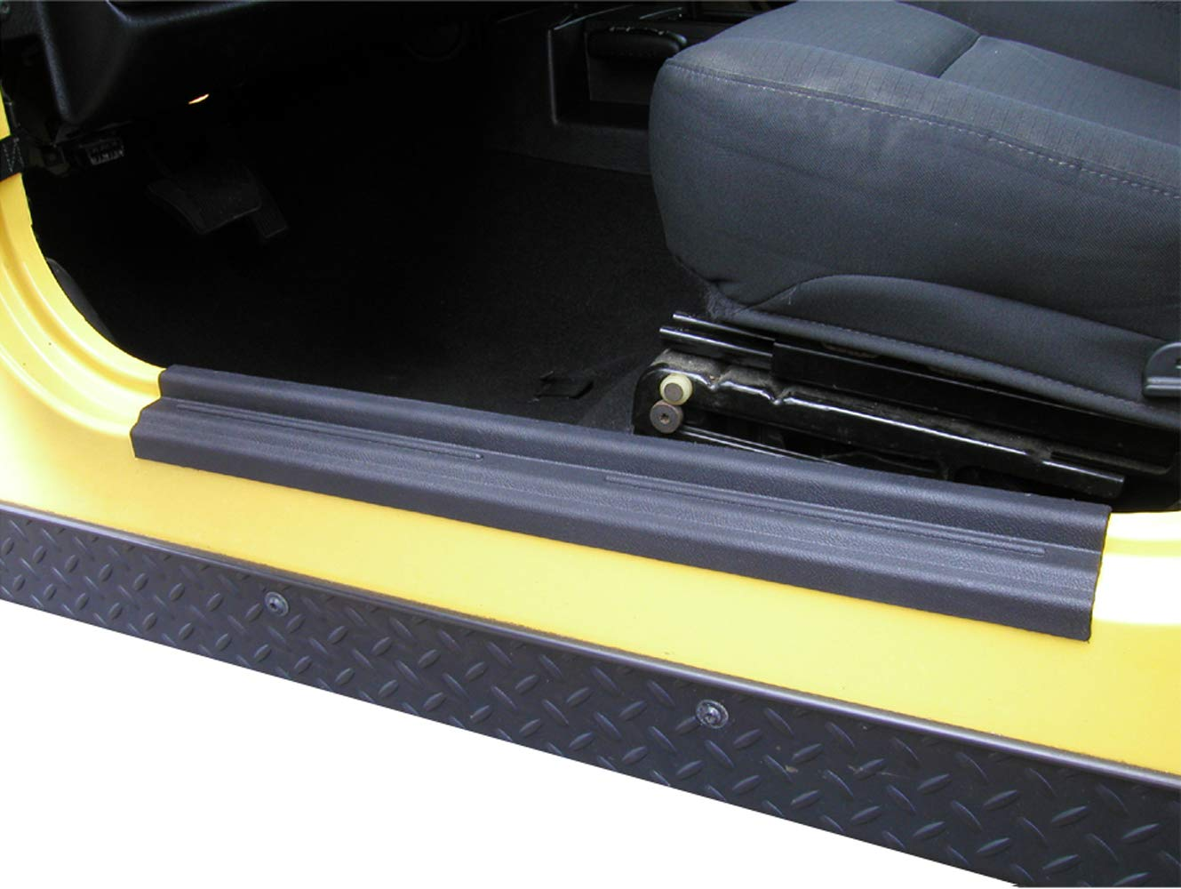 Hooke Road Door Entry Guards Door Sill for Jeep Wrangler TJ & Unlimited 1997-2006