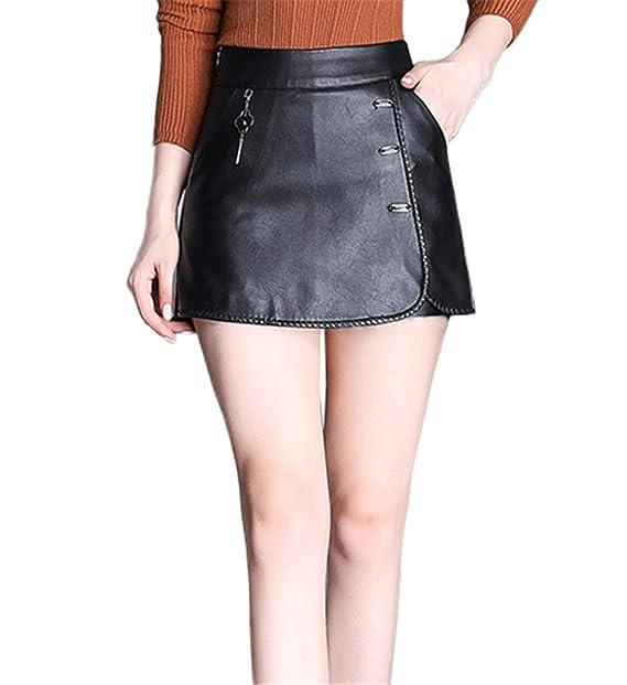 Skitor Sencillos Sexy Falda Lápiz Bonitos Lápiz Falda Elegante Mujer Falda- pantalón Cuero Chulas Faldas Cortas Business Push Up Skirt: Amazon.es: Ropa y ...