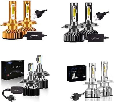 INFITARY H4//9003//HB2 LED Headlight Bulbs Hi//Lo Conversion Kit Adjustable High Low Beam Plug/&Play Car Motorcycle Vehicle Headlamp Fog Light 8000LM 6500K Cool White Replacement LED Headlight 3Yr
