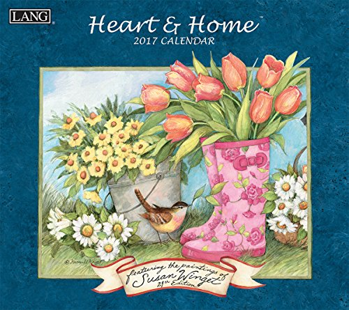 Lang 2017 Heart & Home Wall Calendar, 13.375 x 24 inches (17991001913) - 24