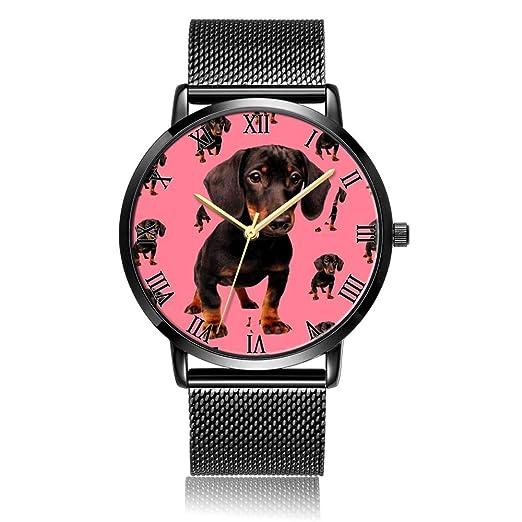 Reloj de Pulsera con diseño de atrapasueños Dorado, Correa de Acero Negro y Placa de Esfera Negra, Reloj de Pulsera para Mujeres o Hombres: Amazon.es: ...