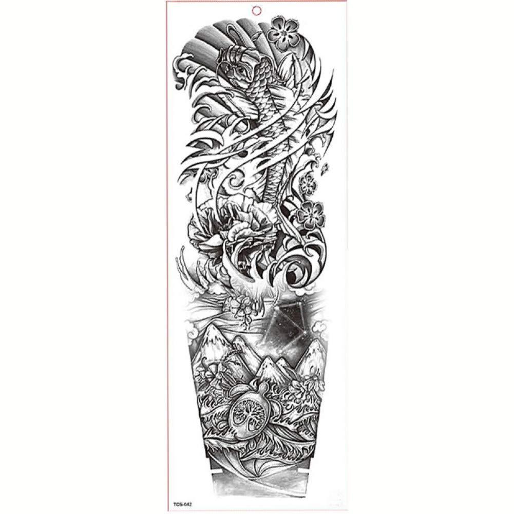 GHHCG Tatuaje de Manga del Brazo Grande Impermeable Tatuaje ...