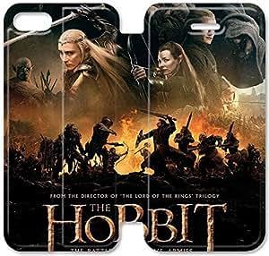 Hobbit La Batalla de los Cinco Ejércitos caso de cuero del tirón S5U41J7 iPhone 6 6S 4. Funda de cuero del caso del teléfono R8X00B6 funda Volver Único