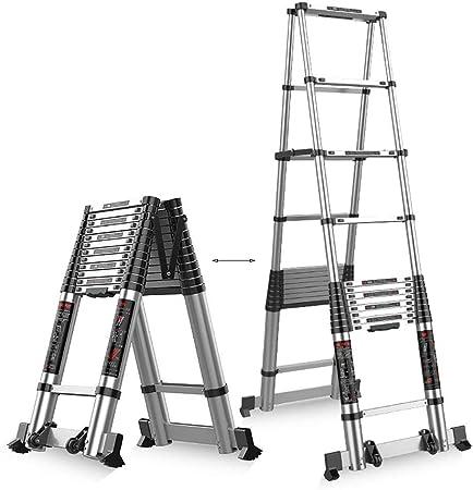 Escalera Telescópica- Inicio/Loft Escaleras Telescópicas - Extensión para Escalera Telescópica De Aluminio con Barra Estabilizadora Uso De Emergencia, 330 Libras De Capacidad (Size : 3.9m/12.8ft): Amazon.es: Hogar